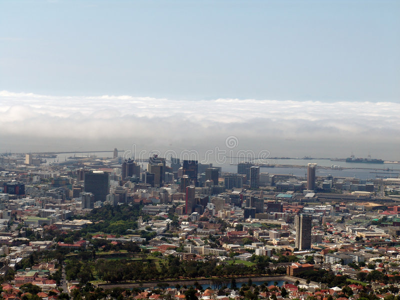 Download Cape Town top view stock image. Image of population, mountain - 833973