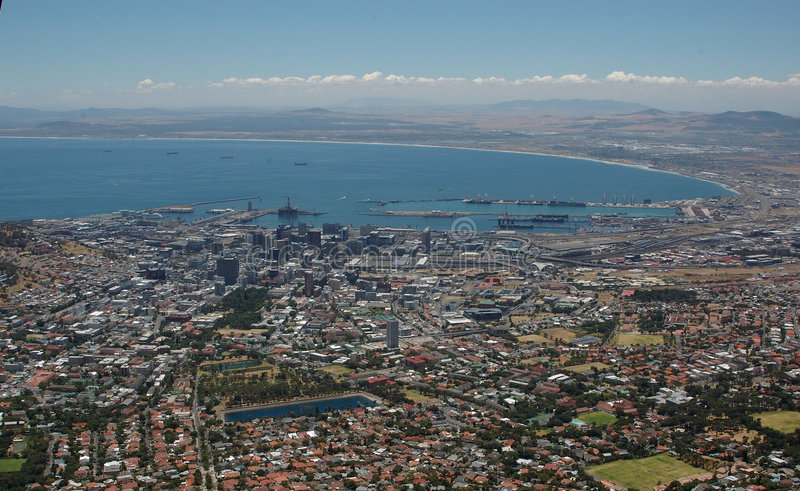 Download Cape Town view stock photo. Image of water, horisontal - 7607442