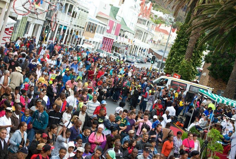 Scène Cape Town de foule images stock
