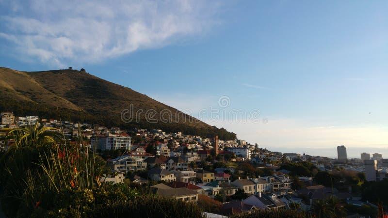 Cape Town von der Himmel-Stange lizenzfreie stockfotos