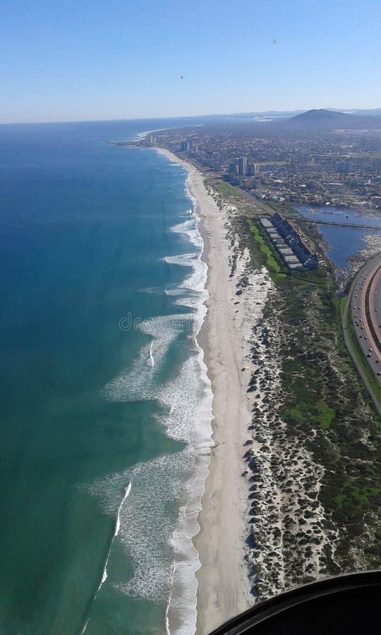 Cape Town von der Luft stockbild