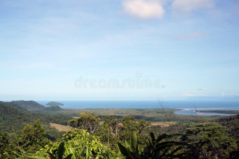 Cape Tribulation view stock photo