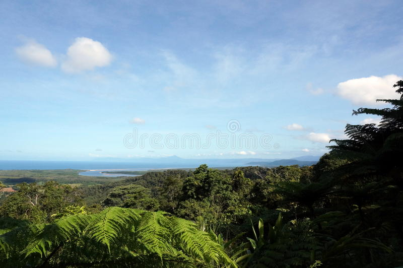 Cape Tribulation view stock photography