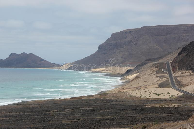 Cape Verde Islands. The coast of Sao Vincente, Cape Verde Islands royalty free stock images