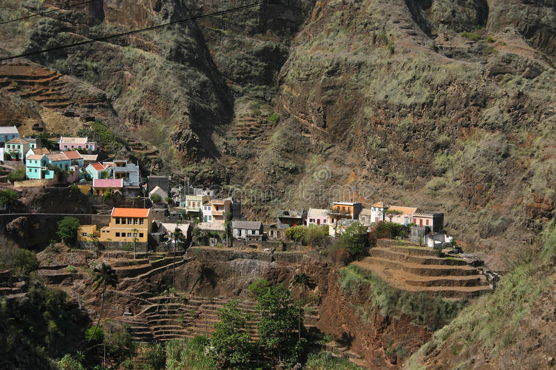 Cape Verde mountain village royalty free stock image