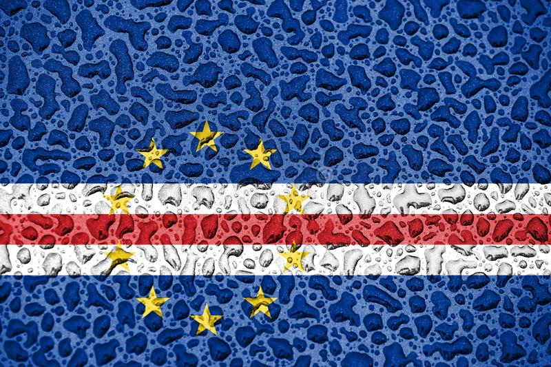 Cape Verde national flag made of water drops. Background forecast season concept royalty free illustration