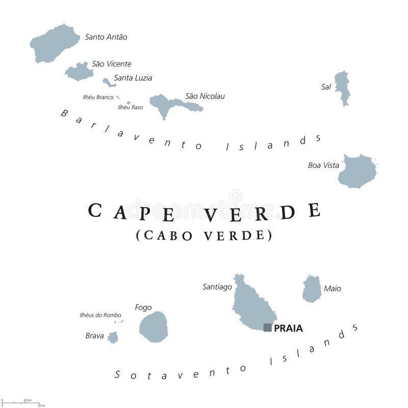 Cape Verde political map stock vector Illustration of maio 96612297