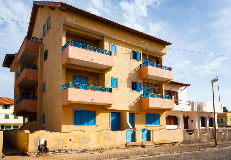 Cape Verde residential house royalty free stock image