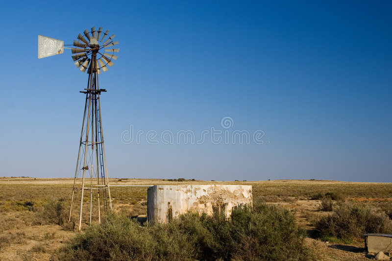 Download Cape windpump #2 stock image. Image of hopeless, trough - 192313