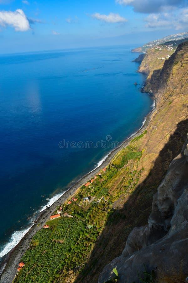 Capelães do dos de Fajã - Madeira imagem de stock royalty free