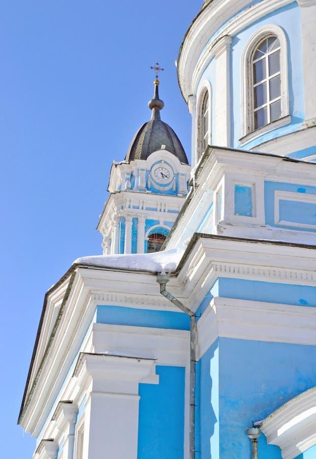 Capela com o pulso de disparo da catedral do esmagamento, Rússia, Moscou foto de stock