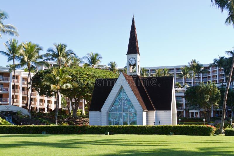 Capela da costa de Maui fotografia de stock