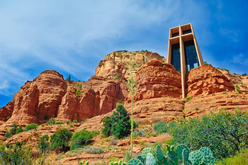 Capela da cruz santamente em Sedona o Arizona foto de stock royalty free