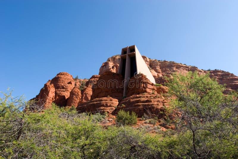 Capela da cruz santamente no Arizona fotografia de stock