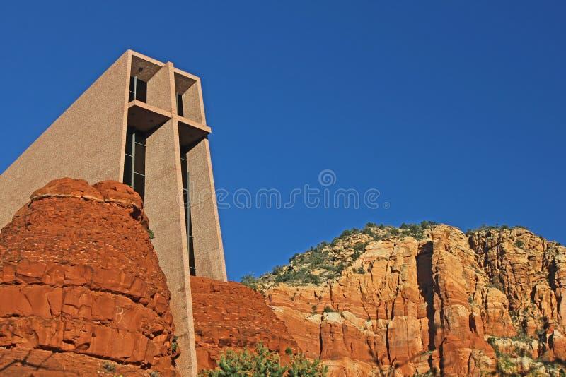 Capela da cruz santamente, Sedona, AZ foto de stock
