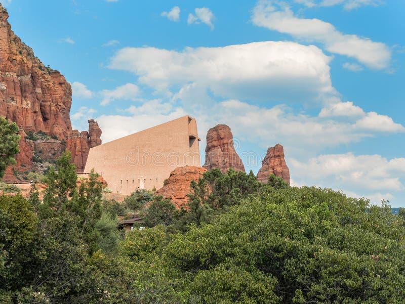 Capela da cruz santamente, Sedona, o Arizona fotografia de stock royalty free