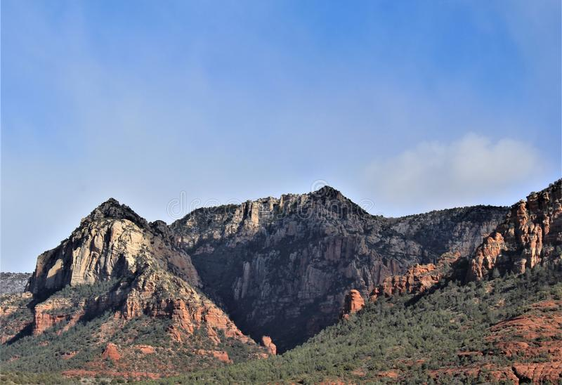 Capela da cruz santamente, Sedona, o Arizona, Estados Unidos foto de stock