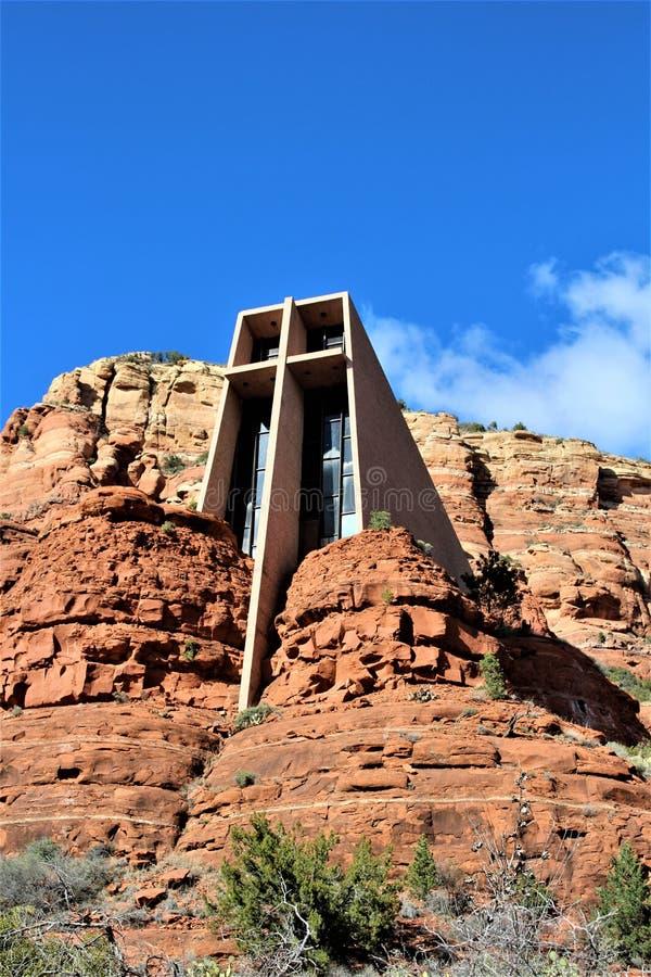Capela da cruz santamente, Sedona, o Arizona, Estados Unidos imagens de stock