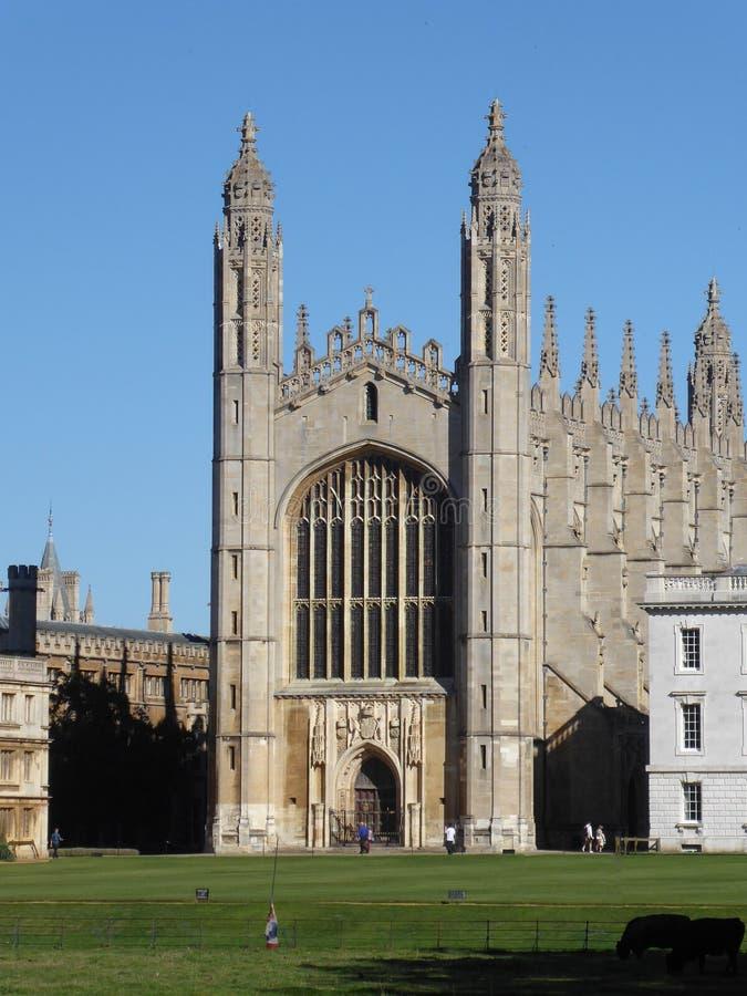 Capela da faculdade do ` s do rei, Cambridge, Reino Unido, visto das partes traseiras foto de stock royalty free