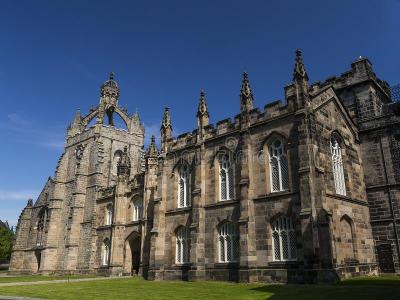 Capela da faculdade do ` s do rei em Aberdeen, Escócia imagem de stock