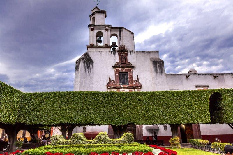 Capela da terceira igreja San Miguel de Allende Mexico da ordem imagem de stock