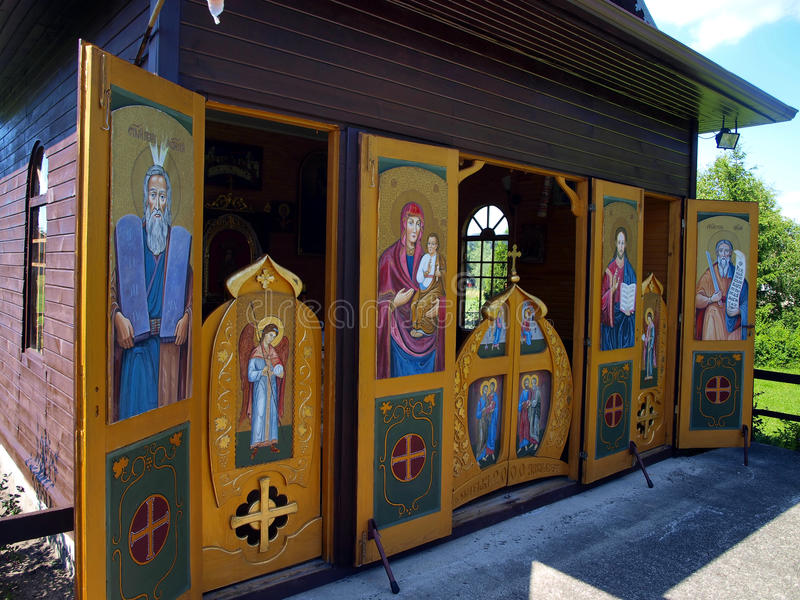 Capela da transfiguração de Jesus na montagem Tabor no wor imagens de stock
