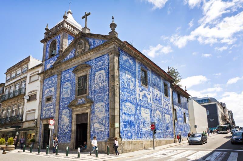 Capela das Almas (Capela de Santa Catarina) i Porto, Portugal royaltyfri bild