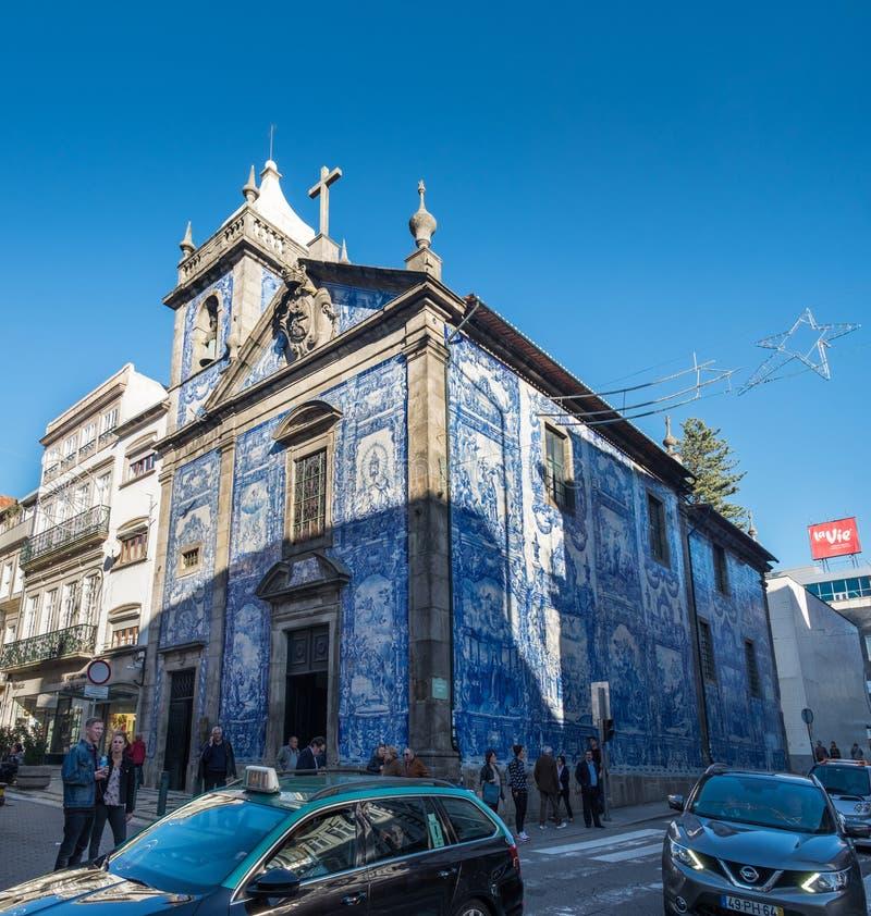 Capela das Almas ou DE Santa Catarina, Porto portugal stock afbeeldingen