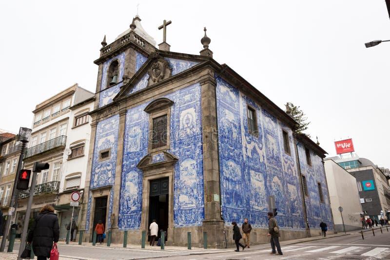 Capela das Almas, in Porto, Portugal stock foto's