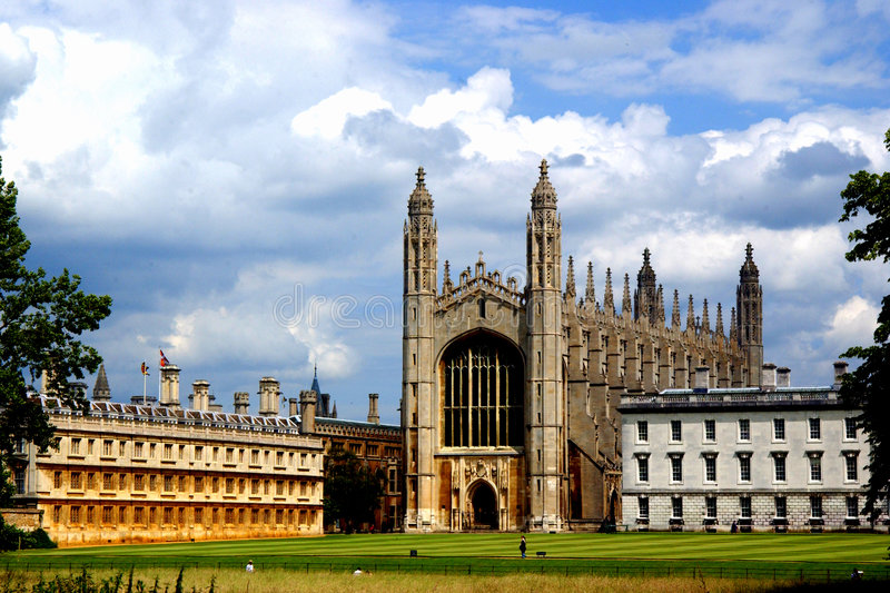 A capela de Cambridge imagem de stock royalty free
