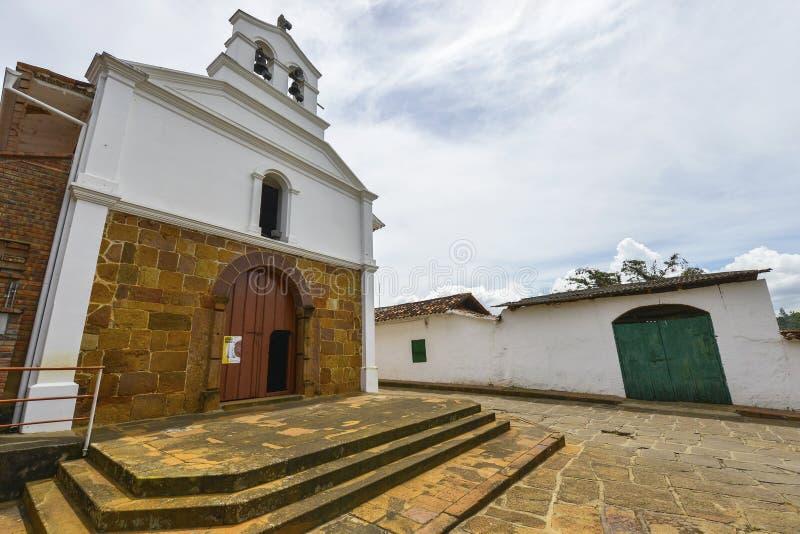 Capela de Jesus aumentado em Barichara, Colômbia imagens de stock royalty free