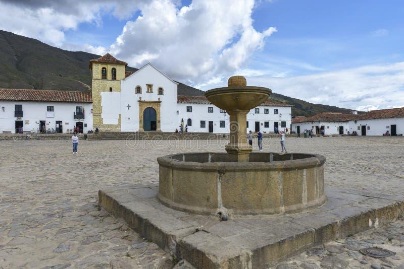 Capela de Jesus aumentado em Barichara, Colômbia fotografia de stock