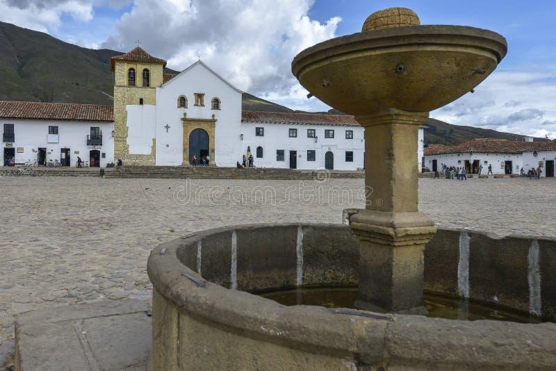Capela de Jesus aumentado em Barichara, Colômbia foto de stock royalty free