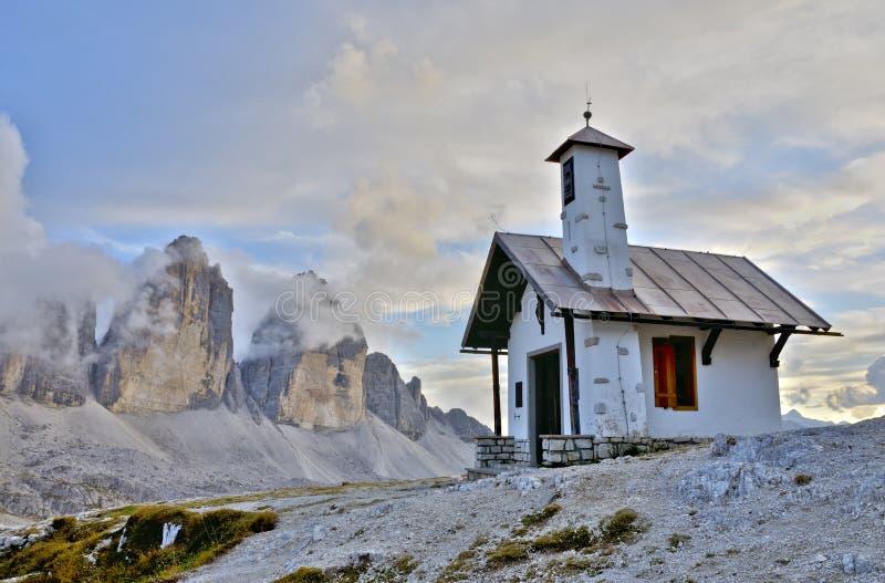 Capela de Lavaredo de três picos