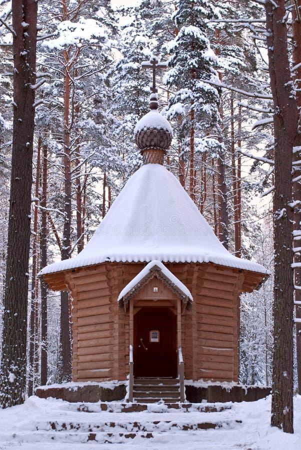 Capela de madeira. fotos de stock royalty free