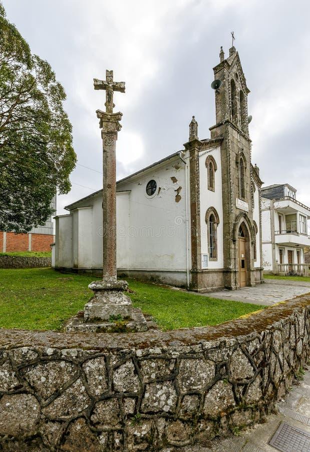 Capela de nossa senhora de Guadalupe em Villalba, Espanha fotos de stock