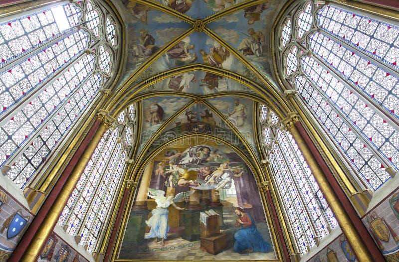 Capela de Primatice, abadia de Chaalis, Chaalis, França fotos de stock