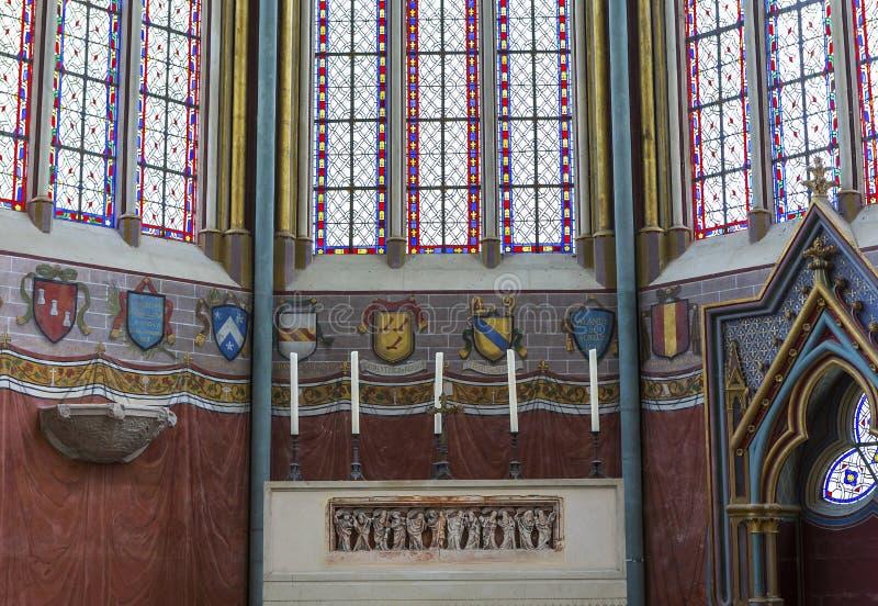 Capela de Primatice, abadia de Chaalis, Chaalis, França fotografia de stock