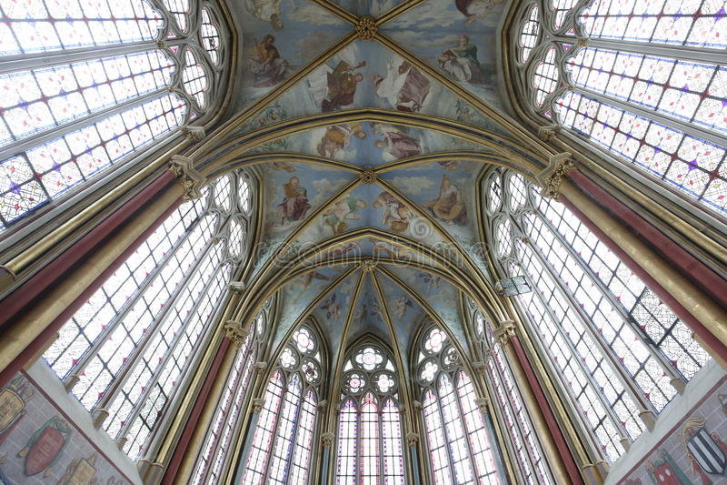 Capela de Primatice, abadia de Chaalis, Chaalis, França imagens de stock royalty free