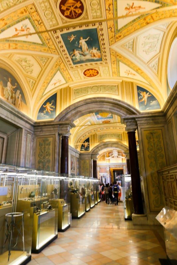Capela de Sistine (Cappella Sistina) - Vaticano, Roma - Itália fotografia de stock