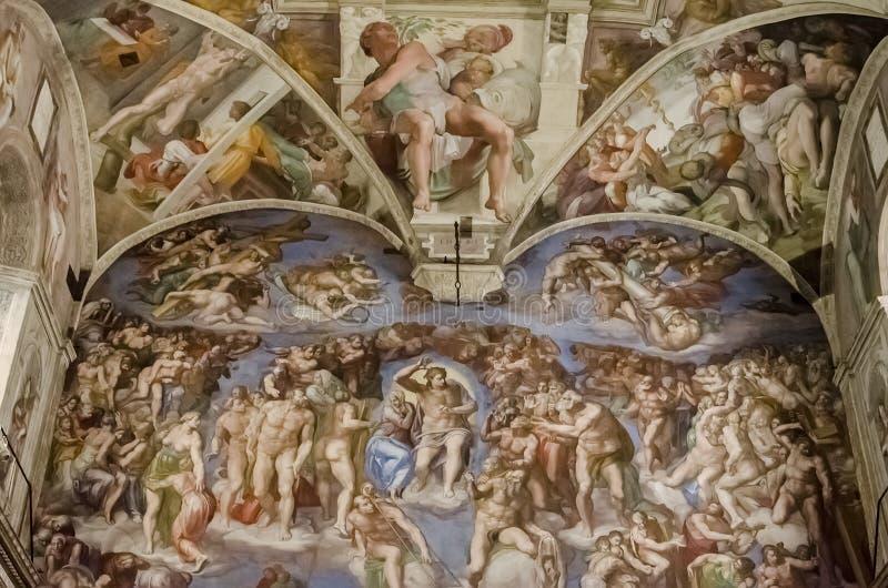 Capela de Sistine no Vaticano imagem de stock royalty free