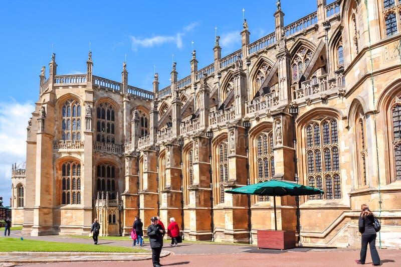 A capela de St George em Windsor Castle, Reino Unido imagem de stock royalty free