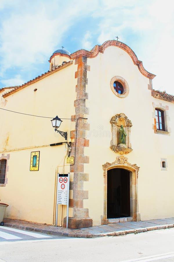 Capela de St Michael, Tossa de Mar fotografia de stock