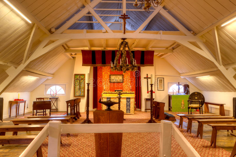 A capela de Talbot House, Poperinge, Bélgica foto de stock