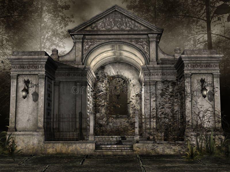 Capela do cemitério ilustração royalty free
