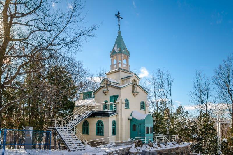 Capela do irmão Andre em Saint Joseph Oratory - Montreal, Quebeque, Canadá fotos de stock
