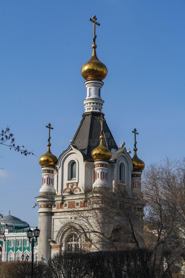 Capela do mártir do St Catherine The Great em Yekaterinburg fotos de stock royalty free