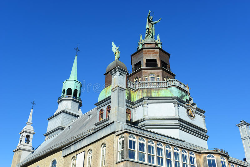 Capela do Notre-Dama-de-Bon-Secours, Montreal foto de stock royalty free