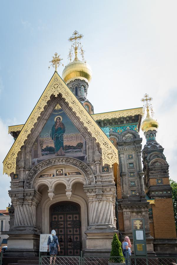 Capela do russo em Darmstadt fotografia de stock