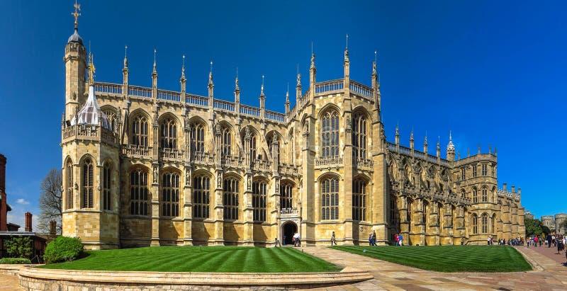 Capela do ` s de St George em Windsor Castle inglaterra imagens de stock